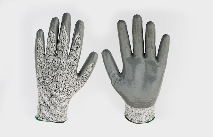Anti Cut Gloves With Nitrile Coating